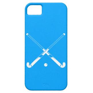 azul de la silueta del hockey hierba del iPhone 5 iPhone 5 Protectores