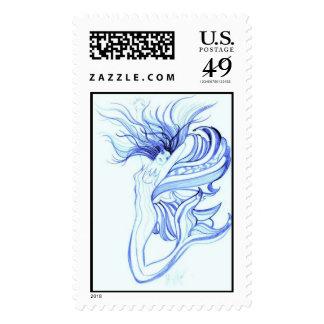 Azul de la sirena por el acebo McKimson Sello