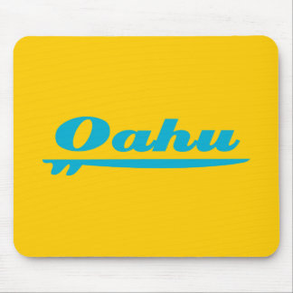 Azul de la tabla hawaiana de Oahu Mouse Pads