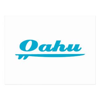Azul de la tabla hawaiana de Oahu Postales
