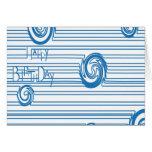 Azul de la tarjeta de cumpleaños