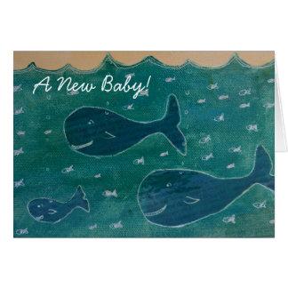 Azul de la tarjeta de la enhorabuena del bebé de l