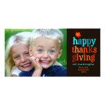 azul de la tarjeta de la foto de la acción de grac tarjetas con fotos personalizadas