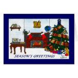 Azul de la tarjeta de Navidad de TSSB