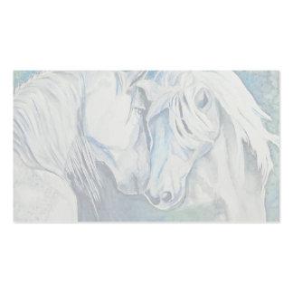 Azul de la tarjeta de visita del caballo