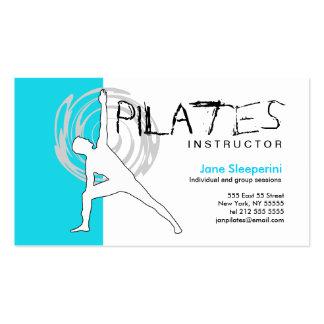 Azul de la tarjeta de visita del instructor de Pil