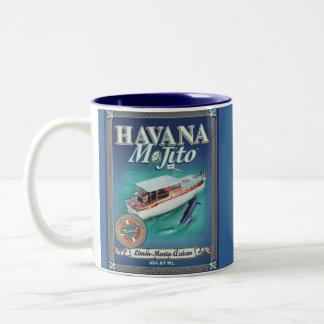 Azul de la taza de La Habana Mojito