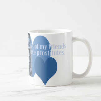 Azul de la taza de la prostituta