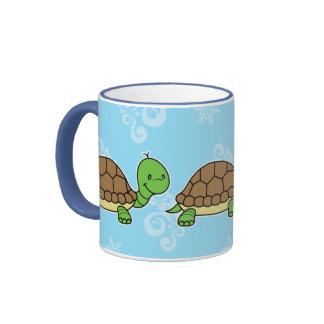 Azul de la taza de la tortuga