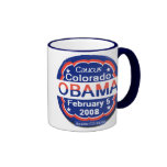 Azul de la taza del comité de Barack Obama Colorad