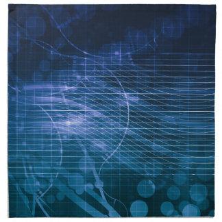 Azul de la tecnología de la ciencia servilletas de papel