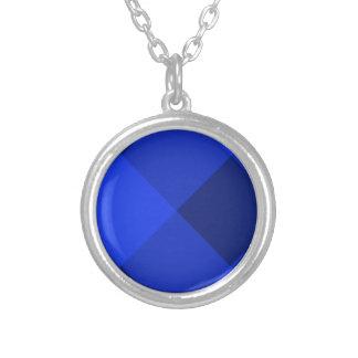 Azul de la tela escocesa 2 colgante