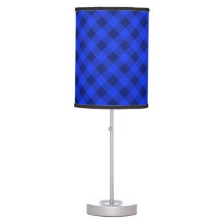 Azul de la tela escocesa 2 lámpara de mesa