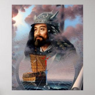 Azul de la unificación del mundo o capitán de mar  impresiones