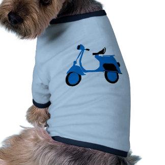 Azul de la vespa camisa de mascota