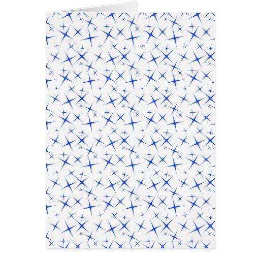 azul de las estrellas 4 tarjeta de felicitación