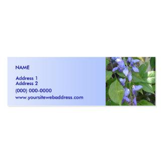 Azul de las glicinias tarjetas de negocios