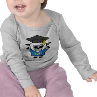 Azul de las ovejas del muchacho y graduado 2011 camisetas