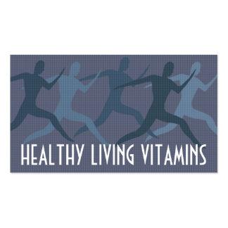 """Azul de las """"vitaminas vivas sanas"""" tarjetas personales"""