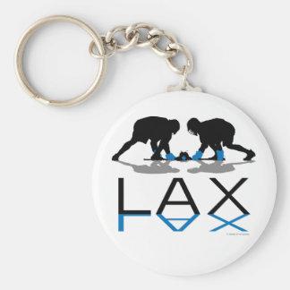 Azul de LAX de los muchachos de LaCrosse Llavero Personalizado