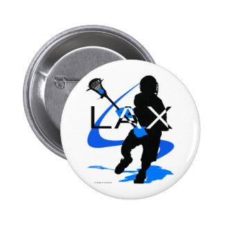 Azul de LAX de los muchachos de LaCrosse Pin Redondo De 2 Pulgadas