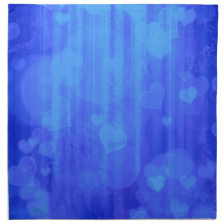 Azul de los corazones de Bokeh 04 i Servilleta Imprimida