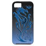 Azul de los dragones y del palo iPhone 5 coberturas