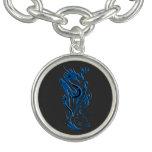 Azul de los dragones y del palo pulseras con dijer