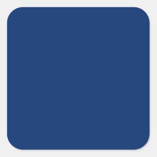 Azul de los E E U U Pegatina Cuadradas Personalizadas