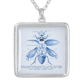 Azul de los escarabajos el | de la imagen el | del colgante cuadrado