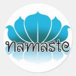 Azul de Lotus Etiqueta