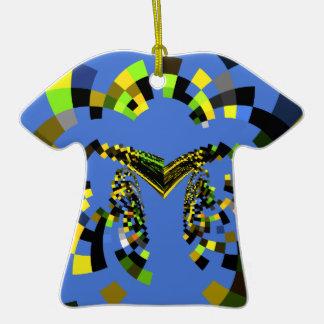 Azul de M Adorno De Cerámica En Forma De Camiseta