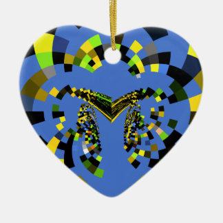 Azul de M Adorno De Cerámica En Forma De Corazón