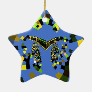 Azul de M Adorno De Cerámica En Forma De Estrella