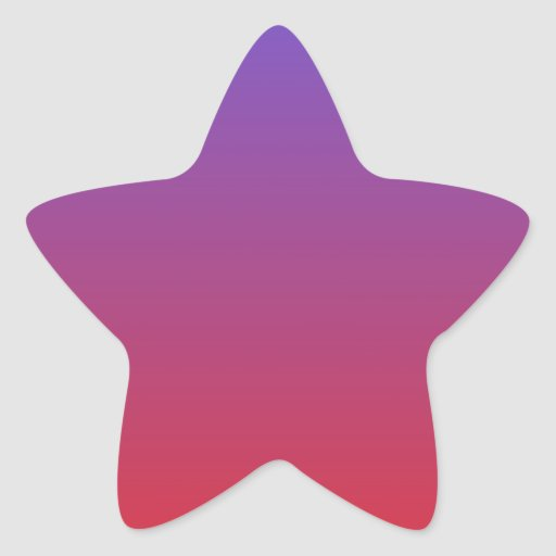 Azul de Majorelle a codiciar pendiente horizontal Pegatinas Forma De Estrellaes