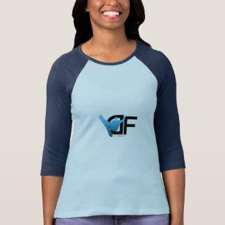 Azul de manga larga del logotipo del DF de los Playera