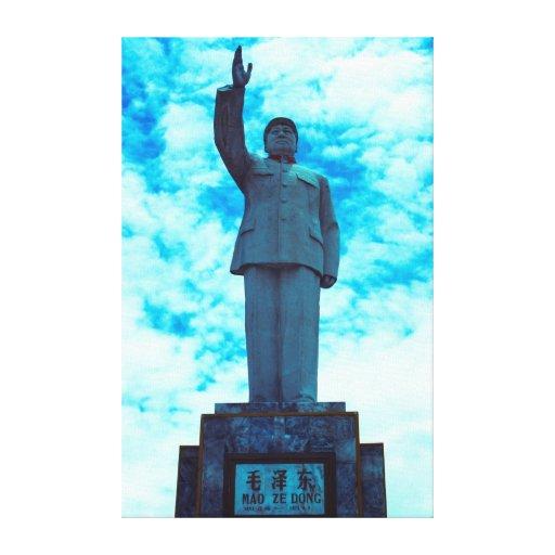 Azul de Mao Lienzo Envuelto Para Galerías