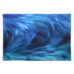 Azul de mármol del fractal mantel
