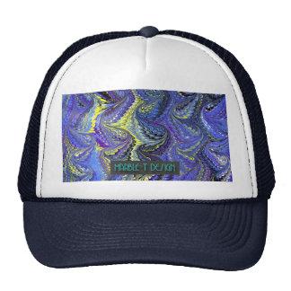Azul de mármol del T-Diseño Gorras