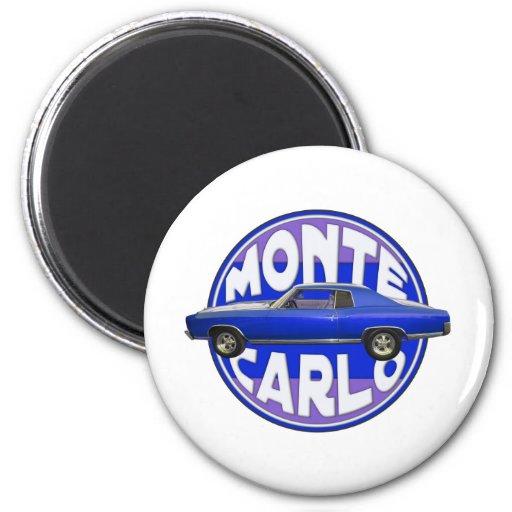 azul de medianoche 1970 de Monte Carlo Imán Redondo 5 Cm