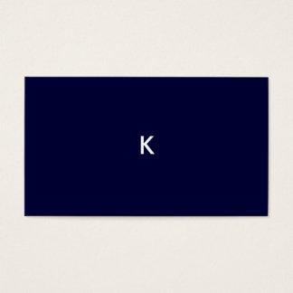 azul de medianoche de la tarjeta de presentación tarjetas de visita