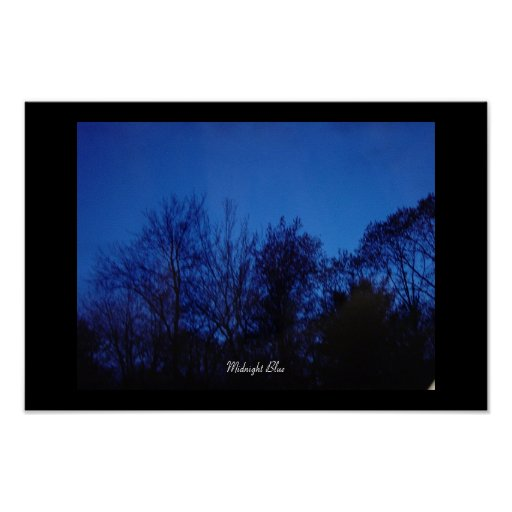 Azul de medianoche impresiones