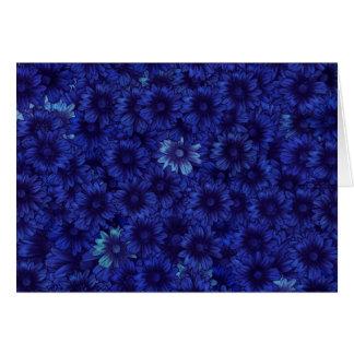 Azul de medianoche tarjeta de felicitación