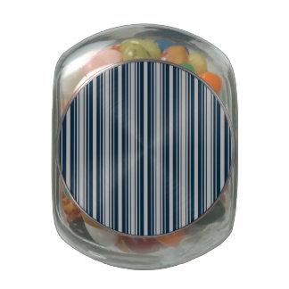 Azul de medianoche y rayas de plata del navidad jarras de cristal
