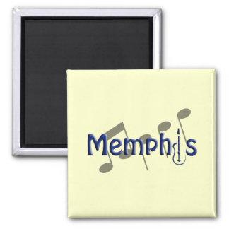 azul de Memphis con las notas de la música Imán Cuadrado
