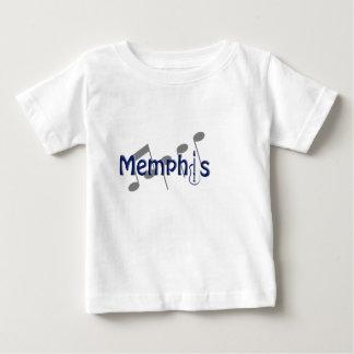 azul de Memphis con las notas de la música Playera De Bebé
