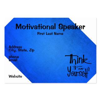 Azul de motivación del altavoz tarjetas de visita
