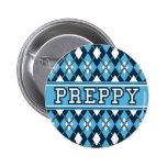 Azul de muy buen gusto de la insignia de Argyle Pins