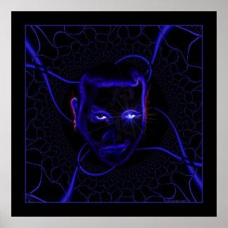 Azul de neón de Emo Póster