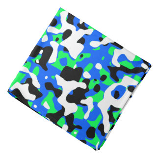 Azul de neón destapado del camuflaje bandanas